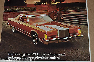 1977 LINCOLN Continental advertisement, Lincoln CONTINENTAL, long luxury car