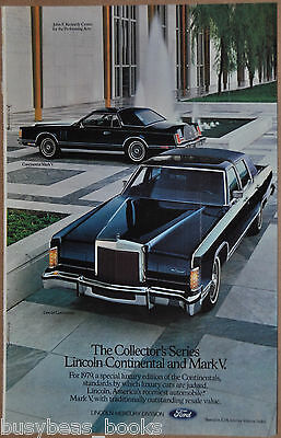 1979 LINCOLN CONTINENTAL advertisement, with LINCOLN Continental Mark IV