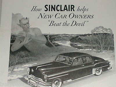 1951 Sinclair Oil ad, New Car, Beat The Devil