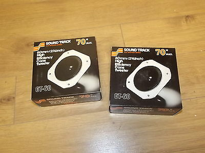 Pair of Sound Track 240 Cone Type Tweeter CT-60 New in box