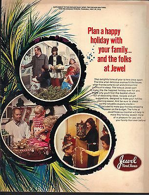 1973 Chicago Jewel Food Store Holiday Supplement Brochure Recipes Coupons Gifts