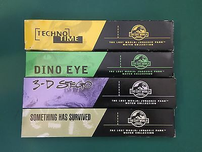 Set Of 4 (four) 1997 Jurassic Park 'The Lost World' Burger King Watches NRFP!