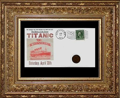 1912 Titanic with 104 year old stamp and coin on a Collector's Envelope *R581