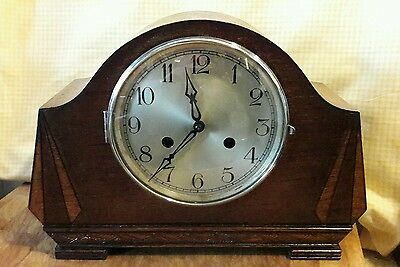 Haller 2 Key Striking Mantle Clock With Pendulum And Key Ex.work.order Had1