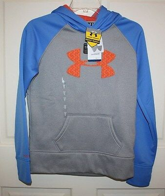 Under Armour STORM Loose Fitting Hoodie Girls YLG 14-16 Blue/Gray 1248367 NWT