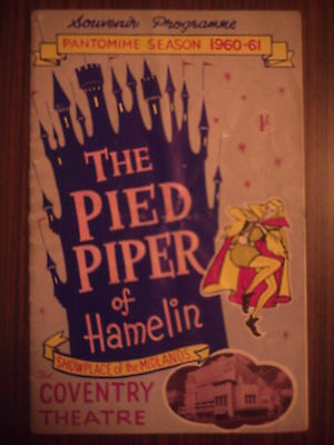 Coventry Theatre 1960-61 'the Pied Piper Of Hamelin' Ken Dodd Programme.