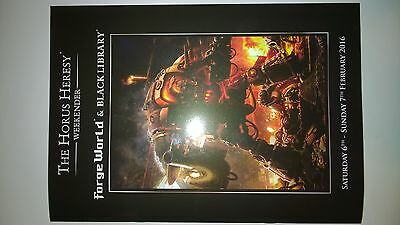 Horus Heresy Weekender 2016 Event Only Programme Signed Forge World BlackLibrary