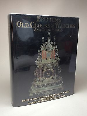 Book Britten's Old Clocks & Watches and Their Makers by Cecil Clutton 1982 Fusee
