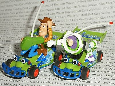 MICRO Scalextric - Pair of Toy Story Buzz and Woody Cars - Mint Cdn.
