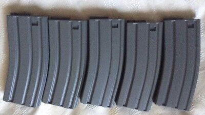 5 X 30 Capacity Airsoft Magazines To Fit M16