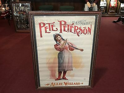 "1800's CHICAGO OPERA HOUSE ""Pete Peterson"" Play  Poster  ""Watch Video"""