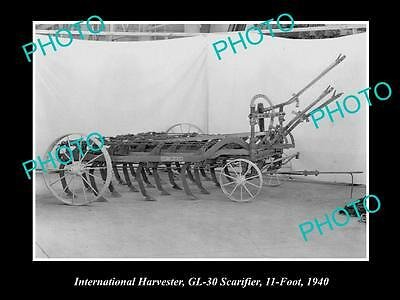 Old Historic Photo Of International Harvester Gl-30 Scarifier, 11 Foot Long 1940