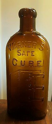 Very Scarce 1/2 Pt Warner's Safe Cure Rochester NY  (Cure Within Slug Plate)