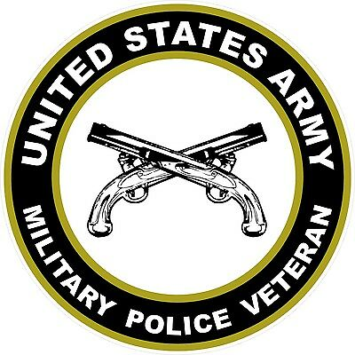 UNITED STATES Army Veteran Military Police Decal Window Bumper Sticker