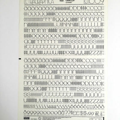 NEW & UNUSED LETRASET INSTANT RUB ON TRANSFER LETTERS 42pt Camellia