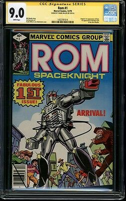CGC SS 9.0 Rom Space Knight 1 Signed by Frank Miller