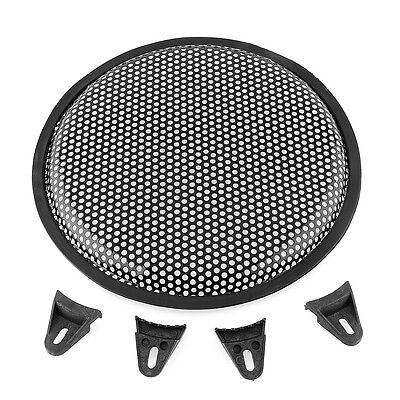 "10 Inch 10"" Universal Metal Audio Speaker Sub SubWoofer Grill Cover Black New"
