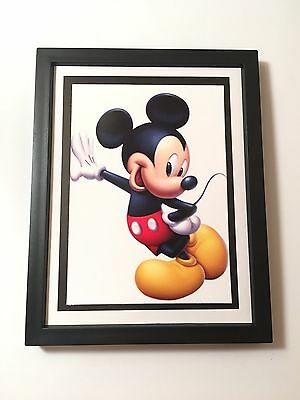 """Mickey Mouse 5""""x7"""" Picture In 6""""x8""""Wall Hanging Or Standing Frame"""