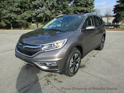 2016 Honda CR-V AWD 5dr Touring AWD 5dr Touring New 4 dr SUV CVT Gasoline 2.4L 4 Cyl Urban Titanium Metallic
