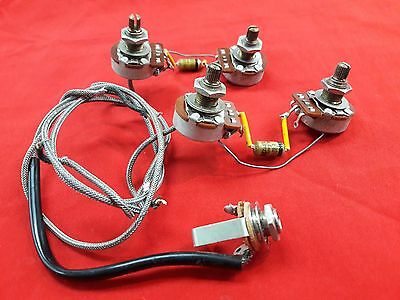 Vintage 1974 Usa Gibson Les Paul Wiring Harness Pots Caps Jack 1975