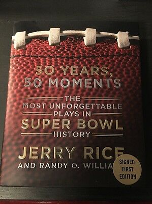 NEW 50 Years, 50 Moments by Jerry Rice Hand Signed First Edition Hard Cover Book