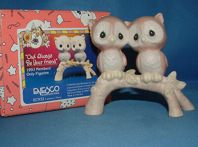 Precious Moments Figurine bc932, Owl Always Be Your Friend,  MIB
