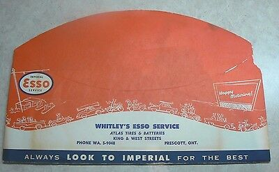 Vintage Esso Gas, Service Station  Advertising Hat Prescott Ontario