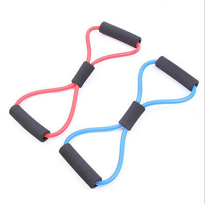 Useful Fitness Equipment Tube Workout Exercise Elastic Resistance Band For Yoga