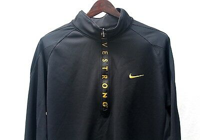 Nike LIVESTRONG Men's Track Suit, Pullover + Pants, Large, Black, NEW, FREE S&H