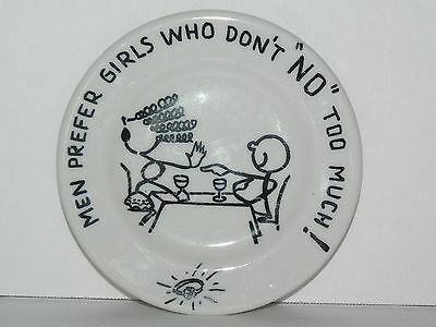 "Shenango China Bar Coaster - ""Men Prefer Girls Who..."" Vintage"