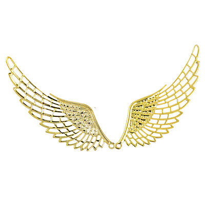 6Pcs Bulk Gold Filigree Angel Wings Charms Pendants for Jewelry DIY Findings