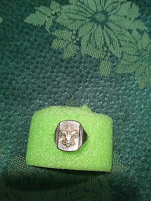 Vintage BSA Boy Scouts Of America Sterling Silver RING Size 6