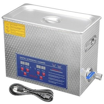 Stainless Steel 6 L Digital Industry Heated Ultrasonic Cleaner Heater w/Timer
