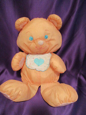 "Fisher Price Puffalump Orange Teddy Bear 17"" 1989 Quaker Oats Co.Vintage"