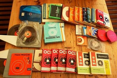 Collection of vintage reel to reel recording tapes - Sizes up to 7""