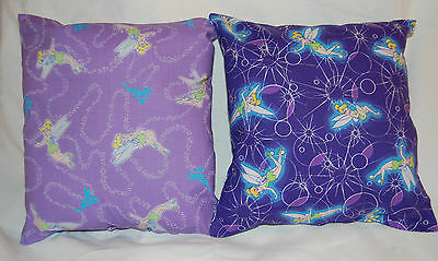 Two New Handmade Disney Tinkerbell Purple Fairy Travel/bed Pillows