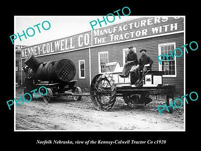 OLD LARGE HISTORIC PHOTO OF NORFOLK NEBRASKA, THE KENNEY COWELL TRACTOR Co c1920