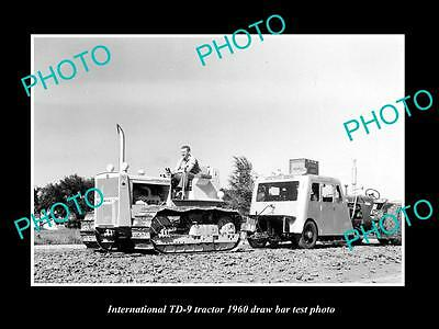 Old Large Historic Photo Of International Td-9 Tractor 1960 Test Photo
