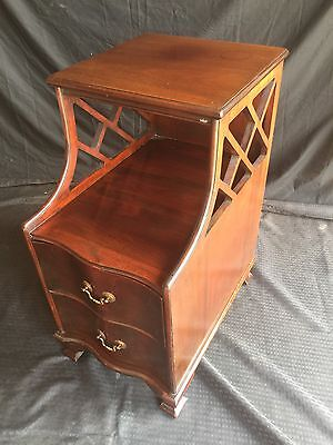 Antique Mahogany Step Down Nightstand