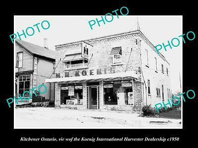 OLD HISTORIC PHOTO OF KITCHENER ONTARIO, INTERNATIONAL HARVESTER STORE c1950