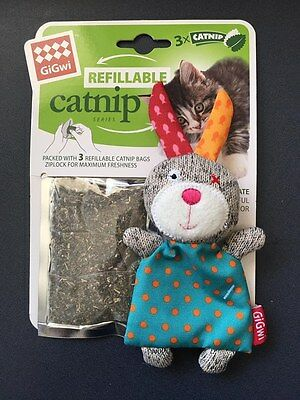 GiGwi Refillable Catnip Rabbit Cat Toy