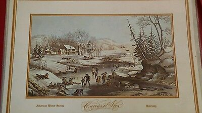 Courrier & Ives American Winter Scences Placemats Set of 4.