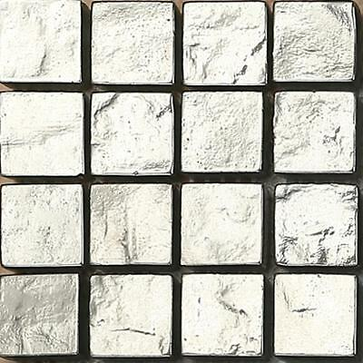 SAMPLE Silver Textured Glass Mosaic Wall Tiles MT0127