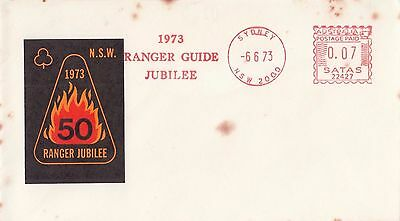 Stamp 1973 Australia NSW Ranger Guide Jubilee souvenir cover with red postmark