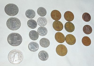 23 Barbados coins 25 10 5 1 cent