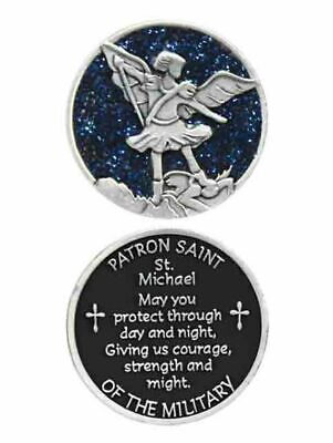 COMPANION COIN, ST MICHAEL, PATRON SAINT OF THE MILITARY, W Message, Prayer or R