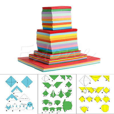1Pack Colorful Square Folding Wish Paper Double Sided Sheets Origami Crane Craft