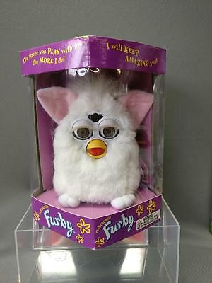White with Pink Ears Furby TIGER ELECTRONICS