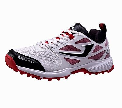 Jazba Men's SKYDRIVE 110 Rubber Sole Cricket Shoes Breathable Black White Red