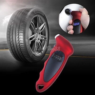 Digital Tire Tyre Air Pressure Gauge LCD Tester Tool For Car Auto Motorcycle 100